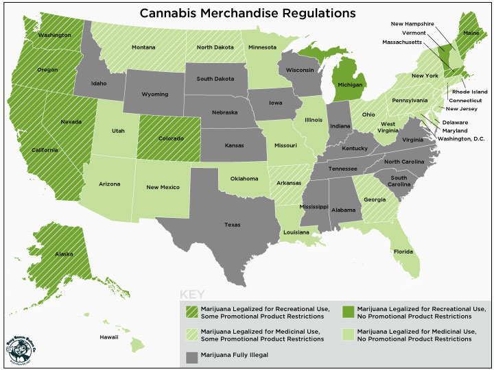 Cannabis Swag Regulations: State by State